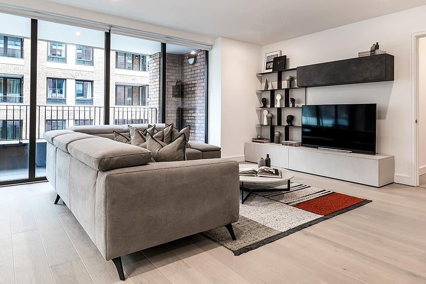 Shoreditch Apartment Lounge & TV
