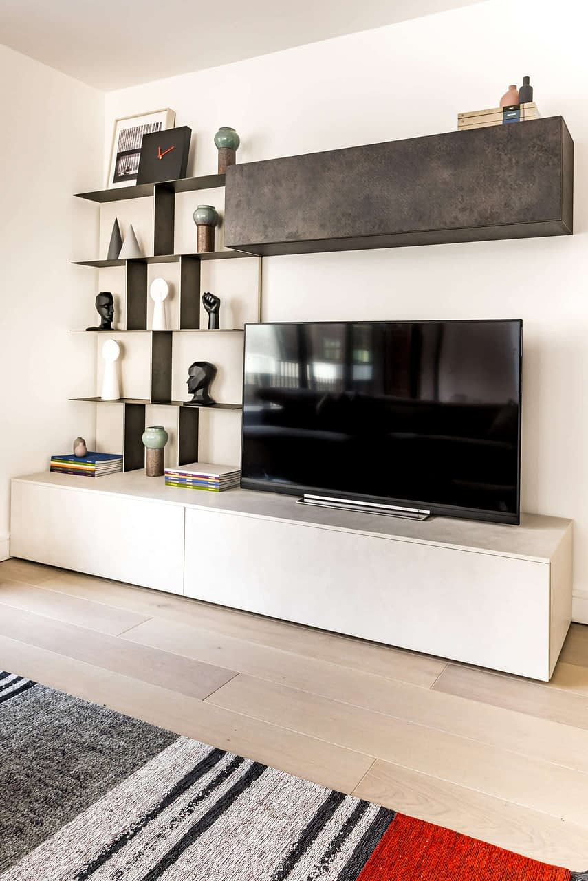 Interior design - Shoreditch Apartment TV Wall