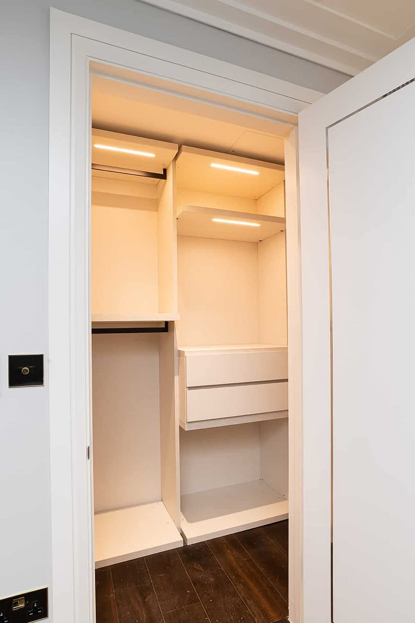 Custom made wardrobe - Wimbledon Show Home