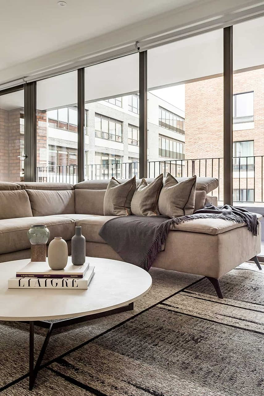 Shoreditch Apartment Lounge Window Wide