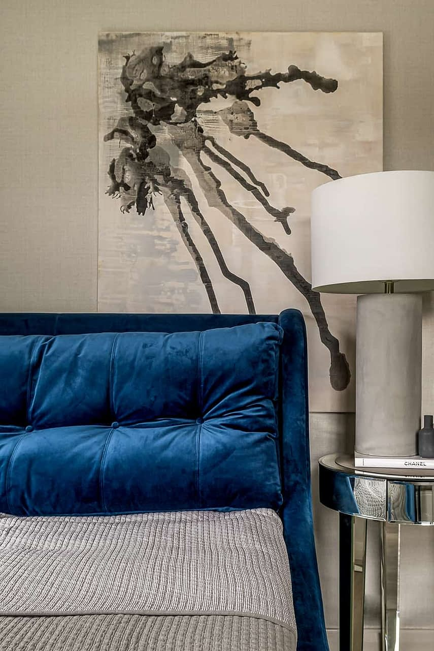 Woodford Green interior blue sofa
